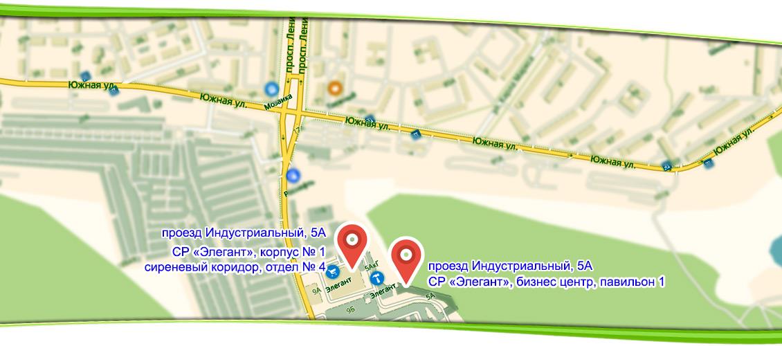 Расположение на карте Братска